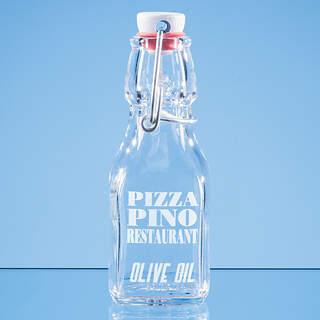 0.125ltr Oil & Vinegar White Cap Swing Top Bottle