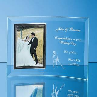 Bevelled Glass Crescent Frame for 3 1/2inchinch x 5inchinch Portrait Photo